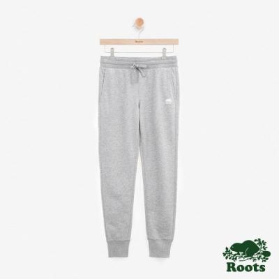 ROOTS女裝 - 立體LOGO毛圈布休閒棉褲-灰