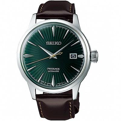 SEIKO精工Presage調酒師41小時動力儲存機械錶(SRPD37J1)-綠
