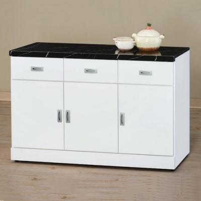 MUNA 純白4尺石面餐櫃/碗碟櫃(下座) 120X42.7X82cm