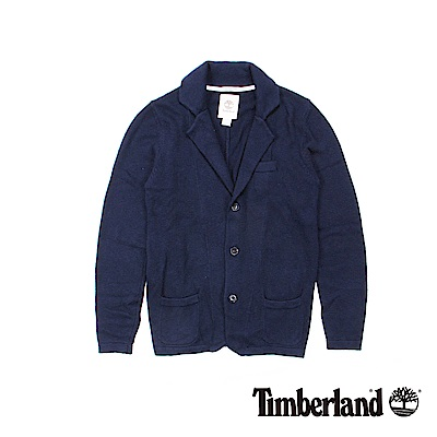 Timberland 男款靛藍色知性翻領水洗外套 | A1SEA433
