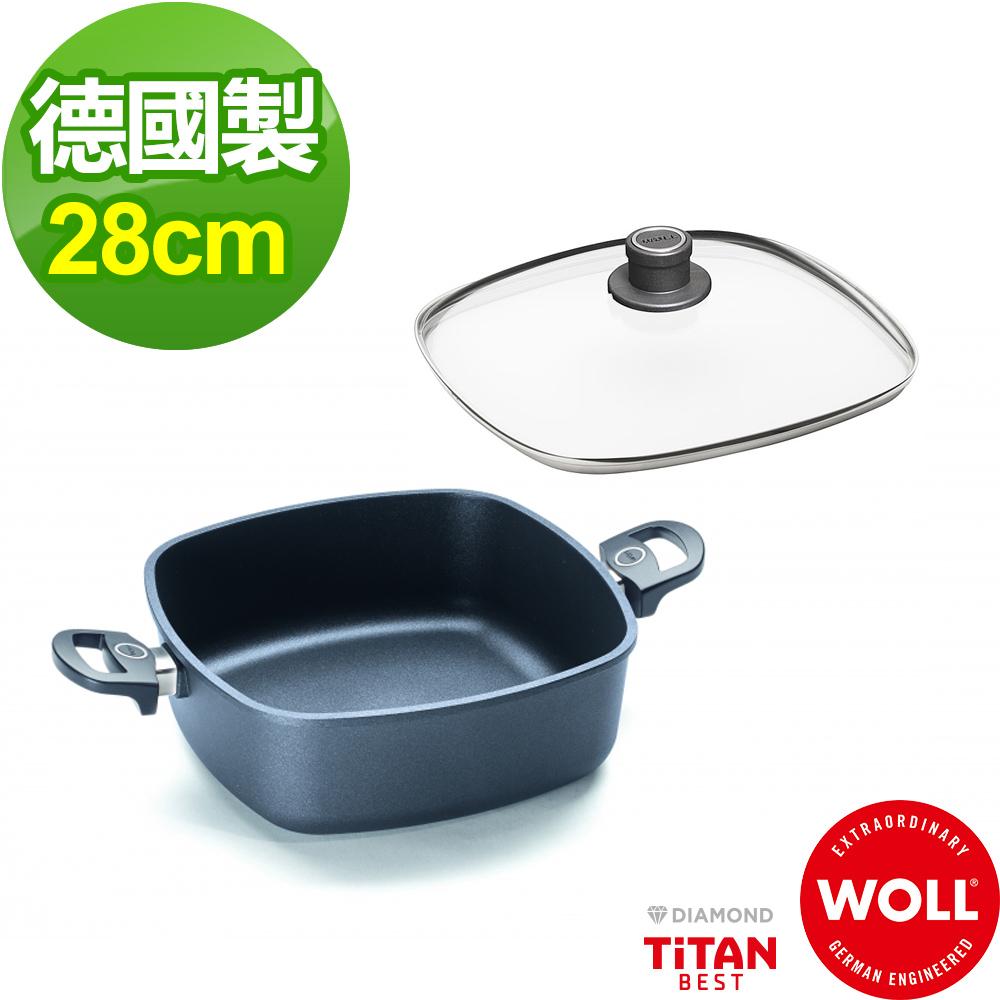 德國 WOLL Titan Best鈦鑽石系列28cm方型湯鍋(含蓋)