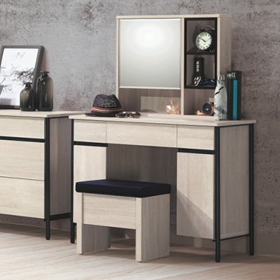 Boden-維森3.3尺化妝桌/鏡台/梳妝台(贈化妝椅)-100x42x136