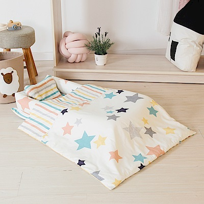 Kori Deer 可莉鹿 純棉多功能床中床-五彩星星有被子