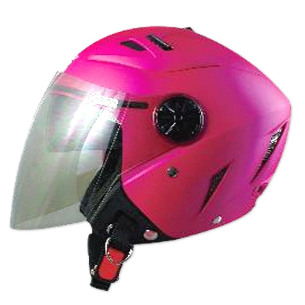 GP-5 時尚安全帽 繽紛 風洞導流設計│抗UV鏡片│半罩安全帽│全可拆│內藏墨鏡 (消光桃紅)