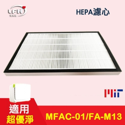 LFH HEPA濾心+濾網 適用:3M淨呼吸 超優淨 MFAC-01F FA-M13 空氣清淨機 1入