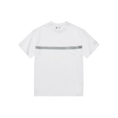NAVY-品牌反光條短T(兩色)-男【SNC063】