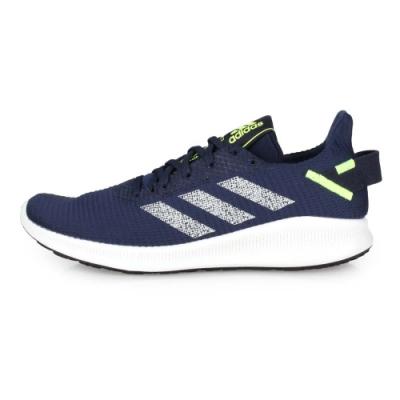 ADIDAS 男 慢跑鞋 SenseBOUNCE  M 深藍螢光綠