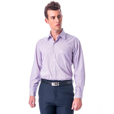 金‧安德森 紅x藍中格紋長袖襯衫