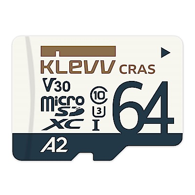 KLEVV 科賦 CRAS microSDXC UHS-I U3 V30 A2 64GB 記憶卡