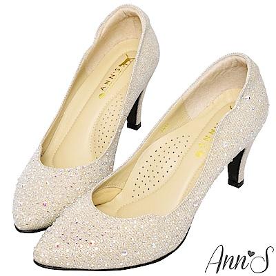 Ann'S浪漫波浪-頂級手工燙鑽絕美婚鞋-金(版型偏小)