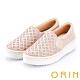 ORIN 休閒時尚風 幾何洞洞燙鑽平底休閒便鞋-粉紅 product thumbnail 1