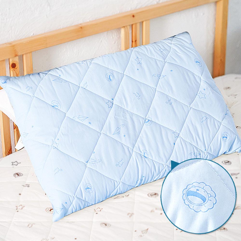 奶油獅-星空飛行-台灣製造-美國抗菌防污鋪棉保潔枕頭套-藍(一入)
