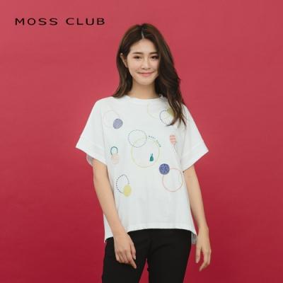 【MOSS CLUB】泡泡刺繡休閒-上衣(二色)