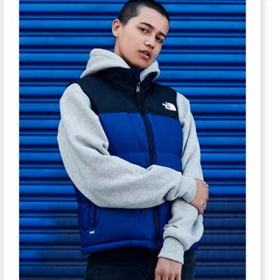 The North Face 男 1996Nuptse覆刻羽絨背心 藍-NF0A4NCICZ6