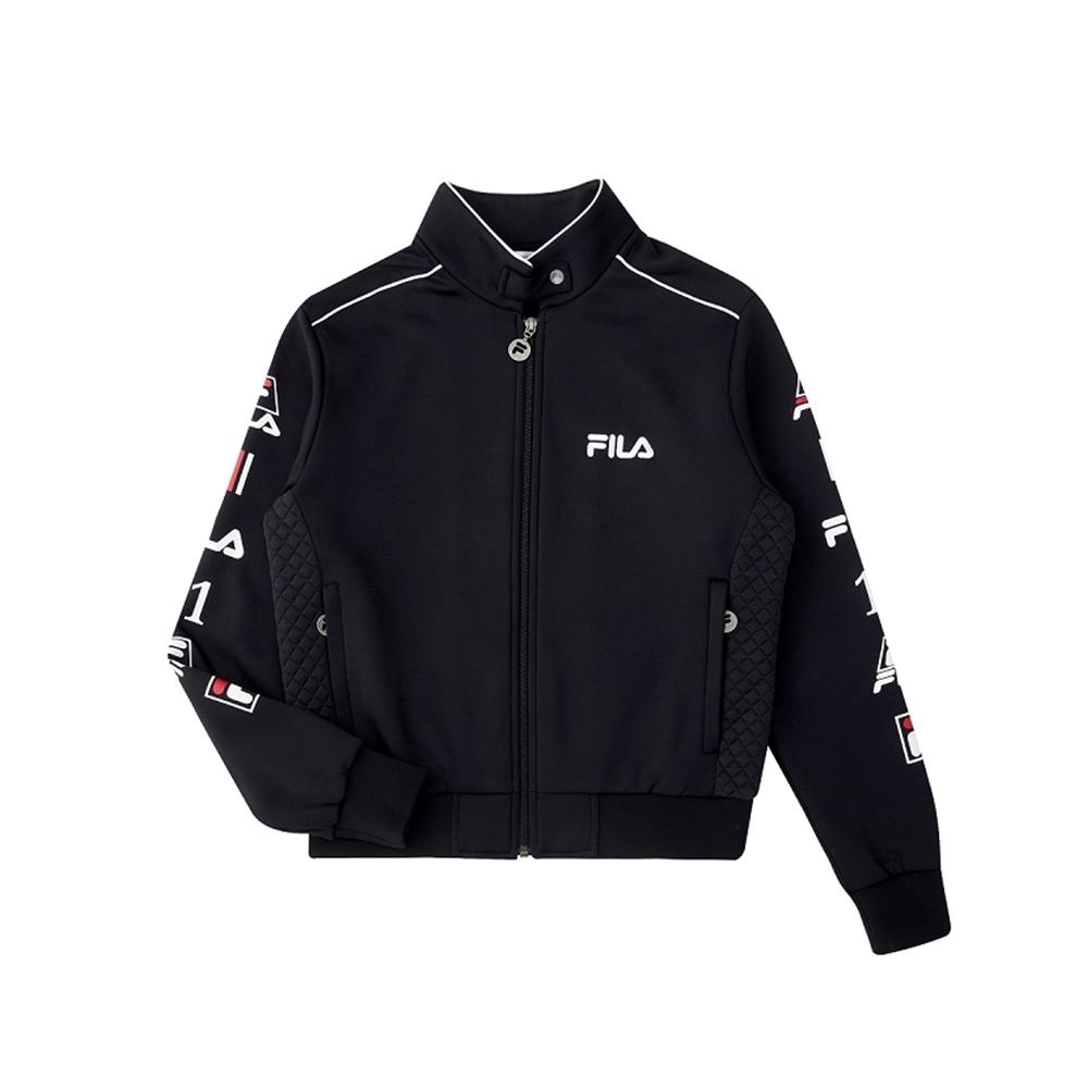 FILA 女吸濕排汗刷毛外套-黑色 5JKU-5496-BK