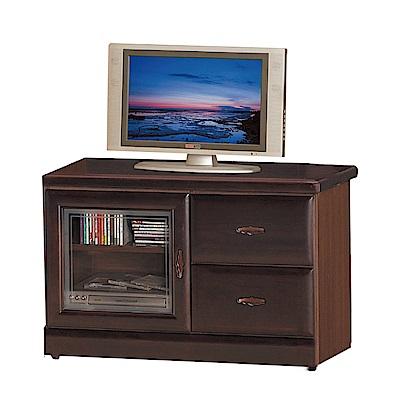 綠活居 艾曼珊3尺實木電視櫃/視聽櫃(二色)-89.6x45x60.5cm-免組