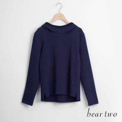 bear two- 素色圓領大學T - 藍