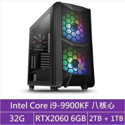 (無卡分期12期)華碩Z390平台[馭神天將]i9八核RTX2060獨顯電玩機