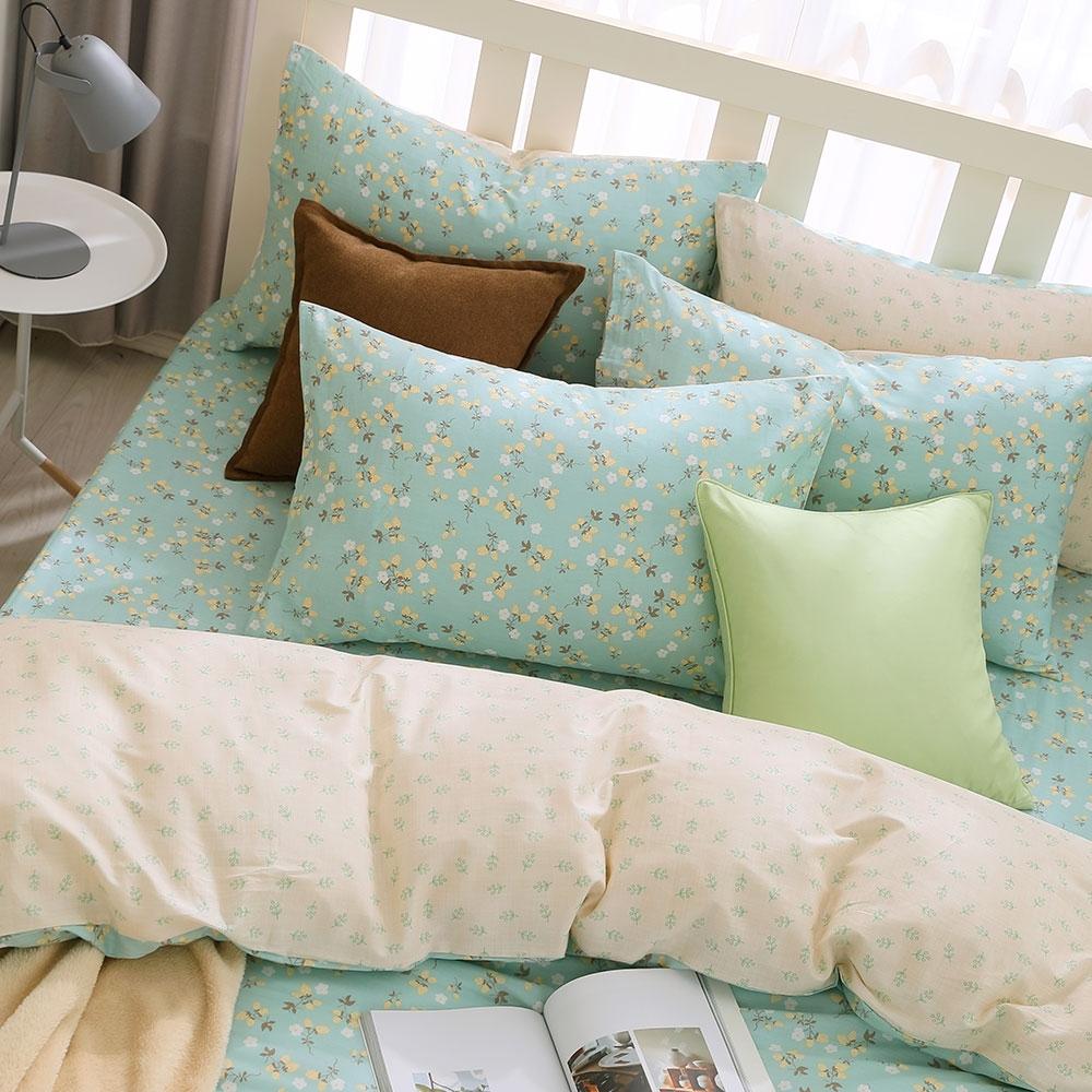 鴻宇 100%精梳棉 小綠莓 單人床包枕套二件組