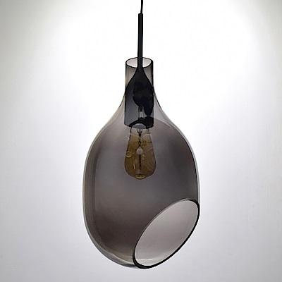 bnatural VESSEL斜口玻璃煙灰色吊燈 BNL00127