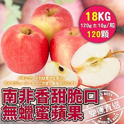 【天天果園】南非無蠟蜜蘋果(每顆約120g) x18kg(約120顆)