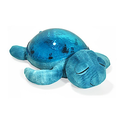 美國cloud b 寶貝舒眠星光音樂夜燈-藍色海龜 7423-AQ
