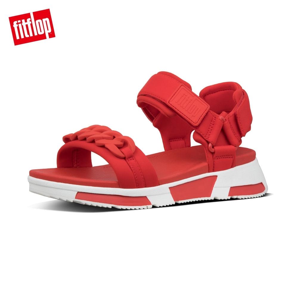 FitFlop HEDA CHAIN BACK STRAP SANDALS涼鞋 紅色