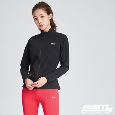 STL 韓國立領運動機能防風外套 黑