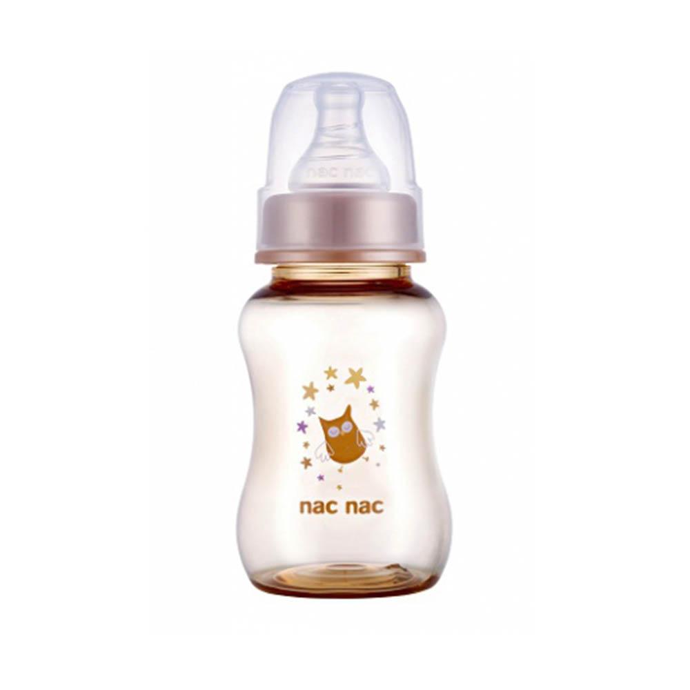 nac nac 森林精靈系列(貓頭鷹)-吸吮力學標準PPSU奶瓶 150ml