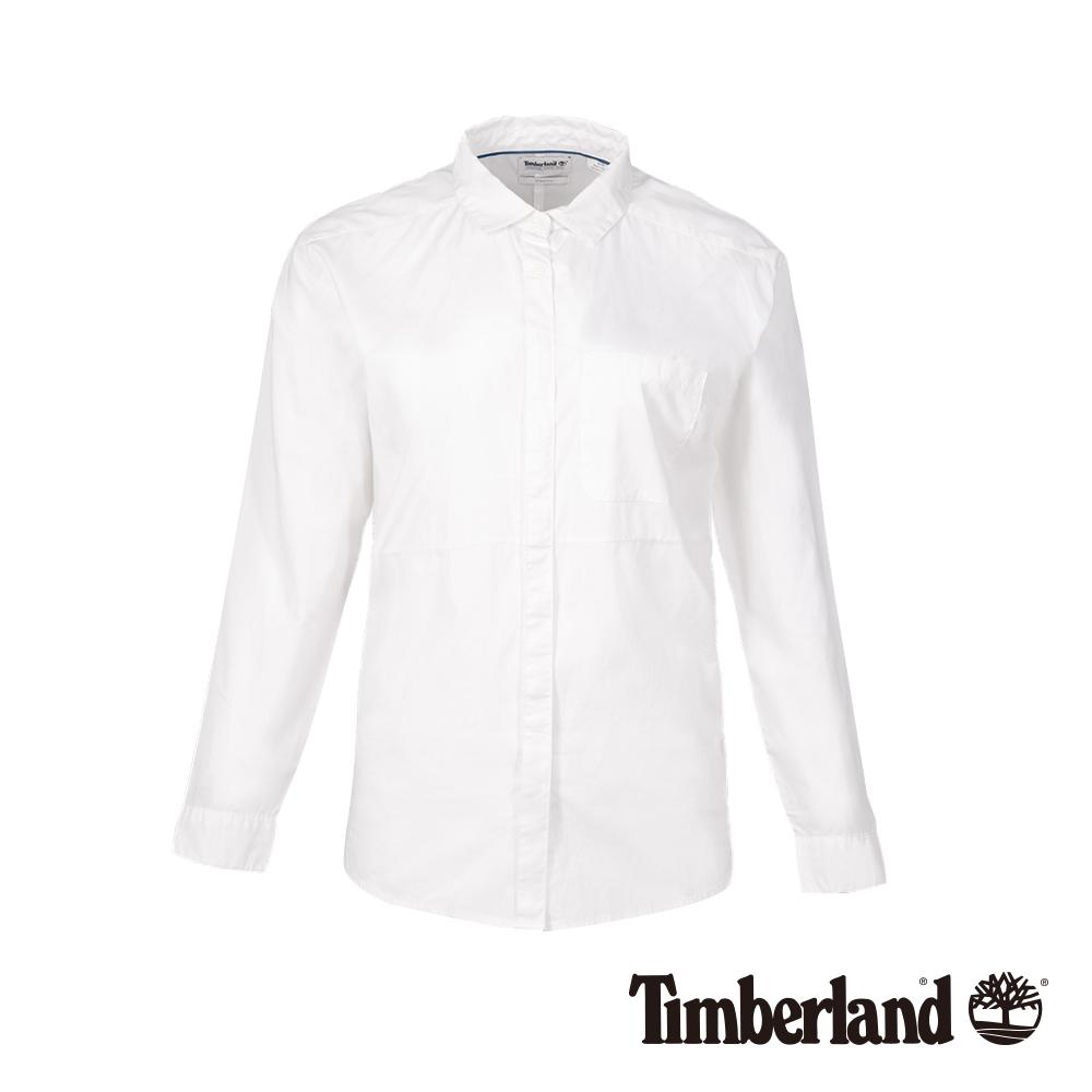 Timberland 女款白色長袖襯衫|A1M78