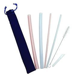 Incare 新食品級無毒果凍矽膠吸管(10件入組)