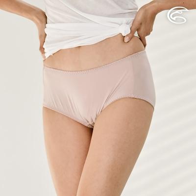 ADISI 女中腰彈性抗菌微平口內褲AUP1911049 和風紫
