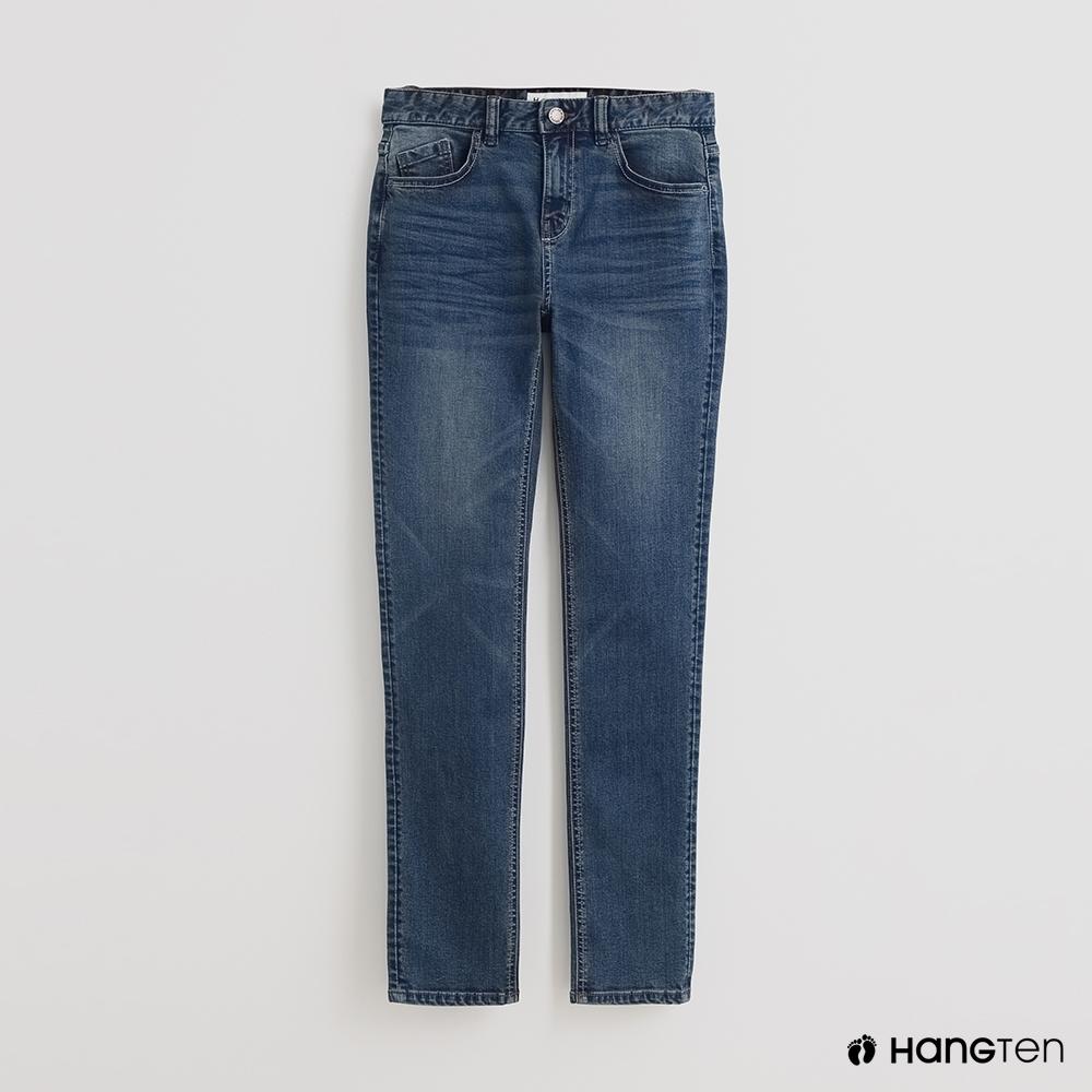 Hang Ten-男裝SLIM FIT自然刷色牛仔褲
