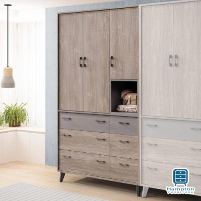 漢妮Hampton沃爾多4*7尺衣櫥-118x59x211cm