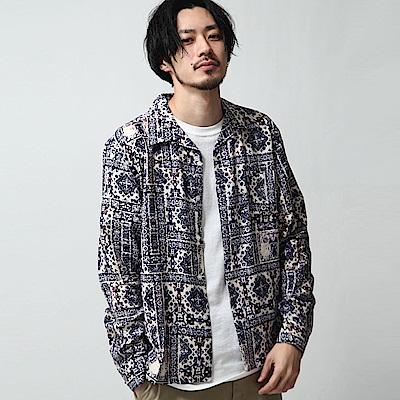復古圖紋開領襯衫(11色) ZIP日本男裝