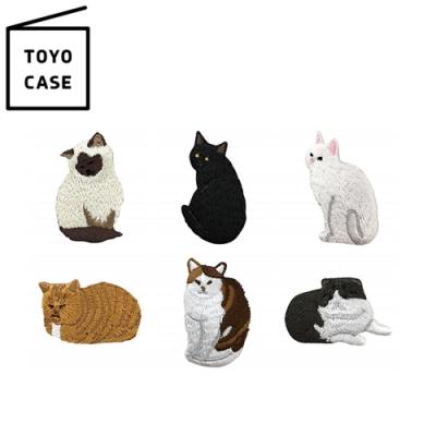 日本TOYO CASE 可愛貓咪造型刺繡徽章SP-CAT(日本平行輸入)