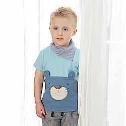 PIPPY 半立體熊熊上衣 藍