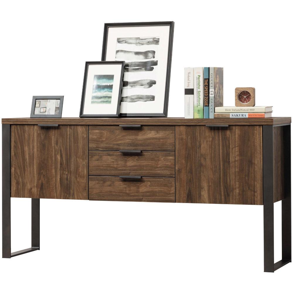 文創集 馬頓時尚5.1尺木紋置物櫃/收納櫃-152.4x39.5x76.4cm免組
