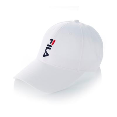 FILA 經典款六片帽-白 HTT-5001-WT