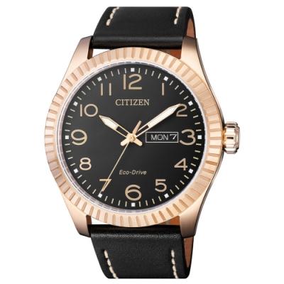 CITIZEN星辰 光動能限量款復刻傳奇時尚男錶(BM8533-13E)-玫瑰金/42mm