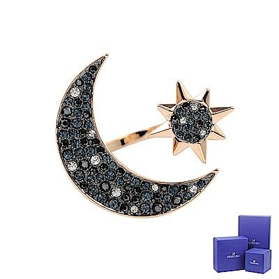 SWAROVSKI 施華洛世奇 SYMBOLIC璀璨水晶神秘星月玫瑰金戒指