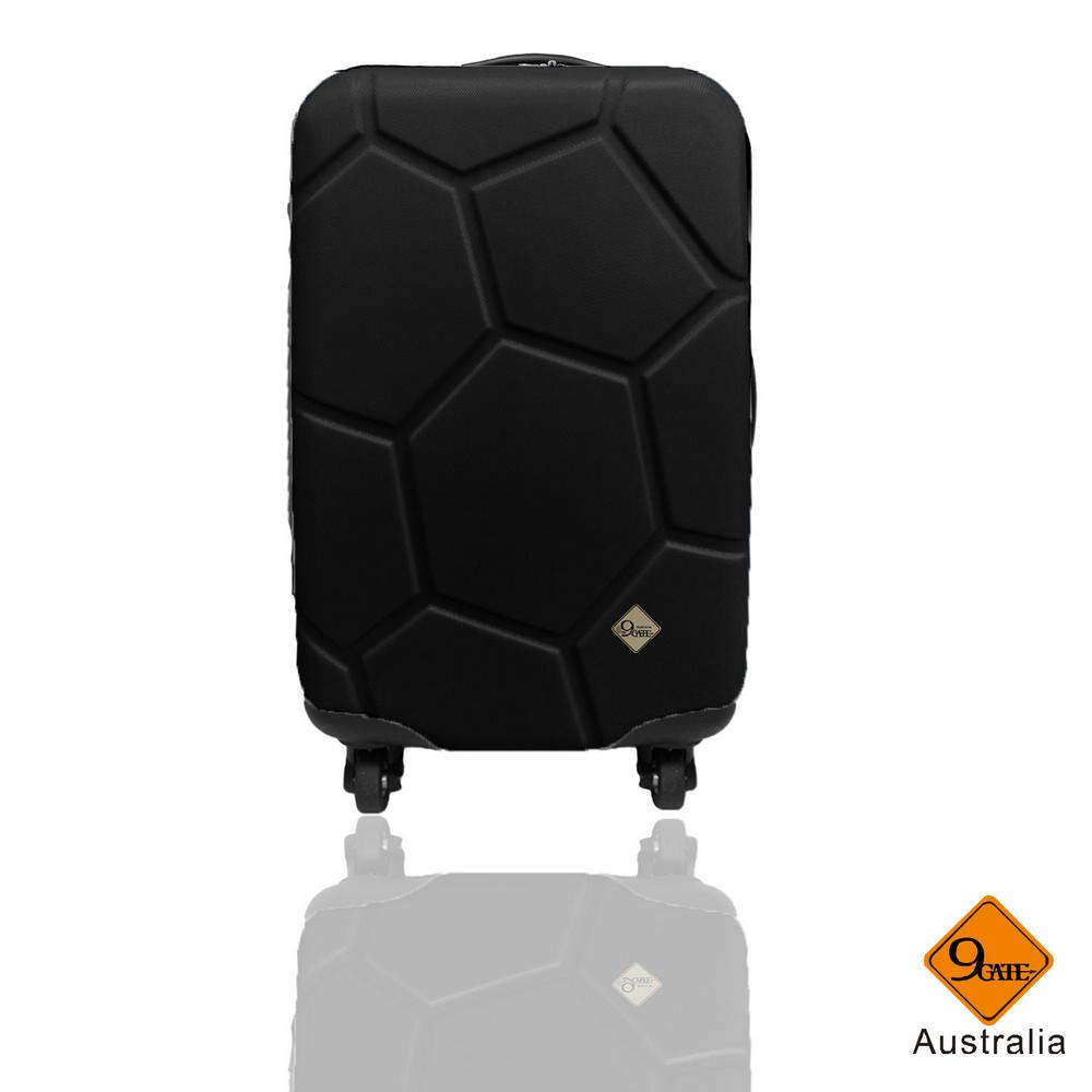 Gate9 足球系列經典20吋 輕硬殼旅行箱行李箱-黑色