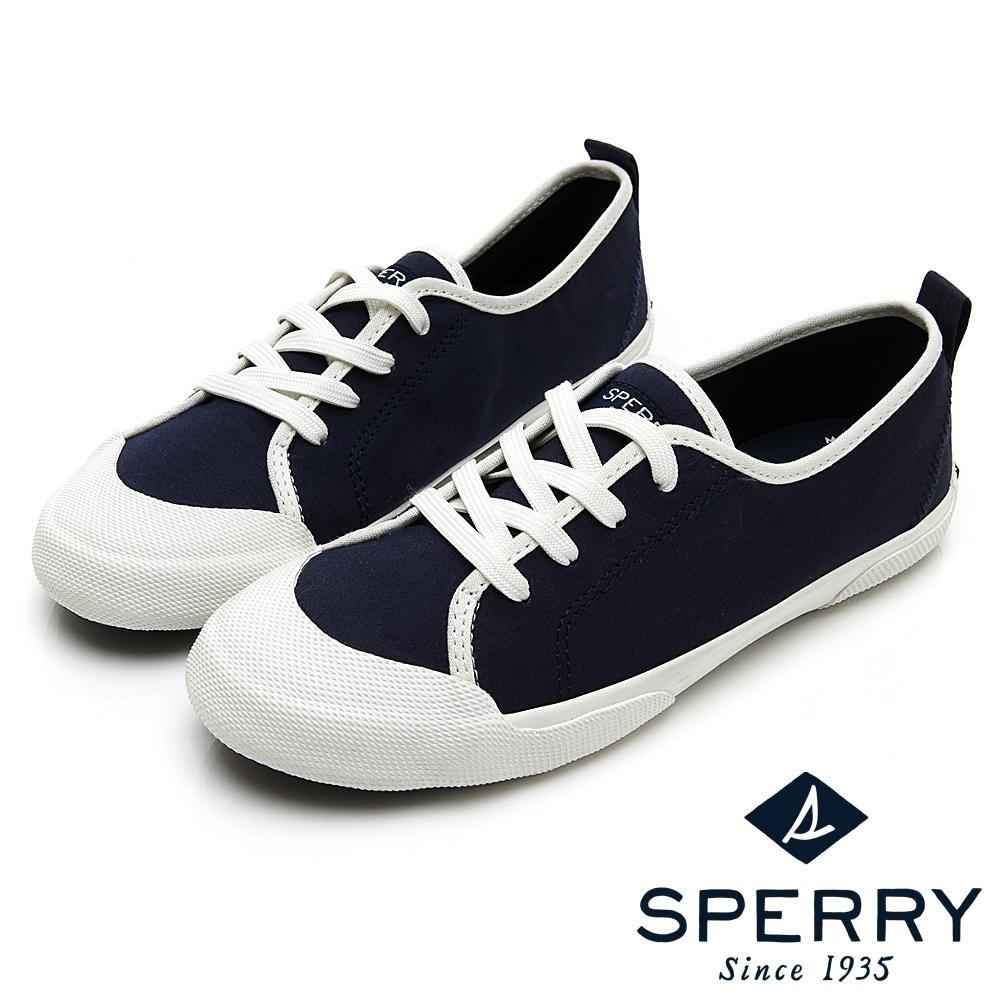 SPERRY 繽紛魅力復古綁帶休閒鞋(女)-海軍藍