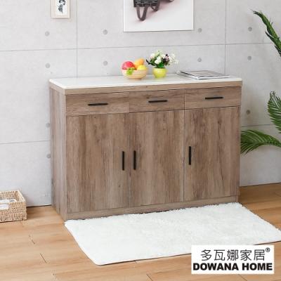多瓦娜-蓋厲害4尺餐櫃-含石面-2色-寬120深40.5高86公分
