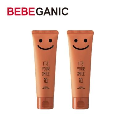BEBEGANIC 韓國 兒童微笑低氟牙膏 100g 清爽薄荷(2入)