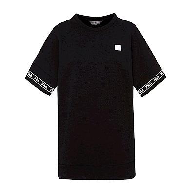 FILA #東京企劃-原宿篇 短袖圓領T恤-黑 5TES-5438-BK