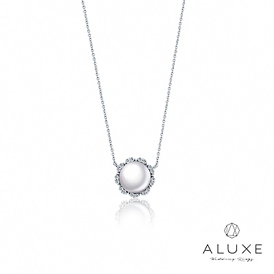 A-LUXE 亞立詩 寵愛系列BelovedII 18K鑽石AKOYA珍珠項鍊