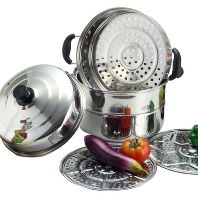 晶輝居家- F1075*居家30CM三層 不鏽鋼雙層蒸鍋蒸魚/蒸包子/電磁爐瓦斯爐皆可使用