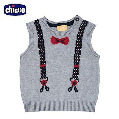 chicco-城市系列-針織假吊帶背心-灰(2-4歲)