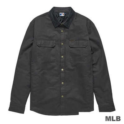 MLB-洋基隊LOGO質感電繡襯衫薄外套 (男)